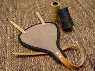 Groin protector made of leather