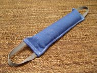 Dog bite tag ( dog bite tug ) made of french linen with two handles