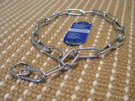 FUR SAVER DOG COLLAR MADE OF CHROME PLATED STAINLESS STEEL