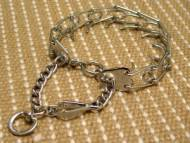 Dog pinch collar with swivel and small quick release snap hook made in Germany