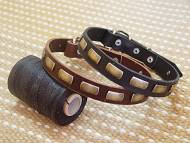 dog collar,handcrafted. Leather Dog Collar For Large Breeds With Plates