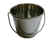 Dog bucket made of stainless steel