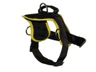 Nylon multi-purpose dog harness for tracking / pulling with extra handle