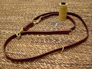 Leather police dog leash for training