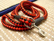 Cord nylon dog leash with super strong solid Nickel plated snap hook for large dogs