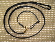 police / hunting dog leash dog collar combo with locking jaw