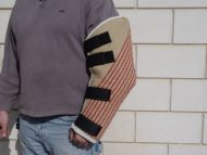 Dog hidden protection sleeve made of jute