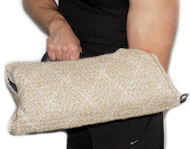 Puppy sleeve made of strong yet safe for your dog or puppy jute material. Good for both - left and right arm