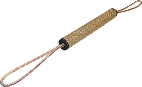 Dog play role made of roled jute with 2 handles