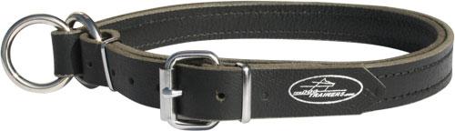 Leather choke dog collar