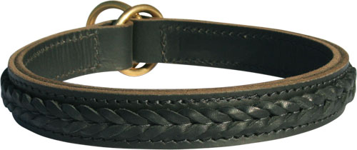 Gorgeous Wide 2 Ply Leather Choke Dog Collar - Fashion Exclusive Design