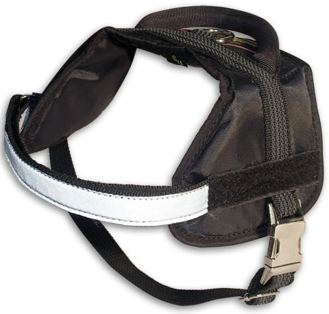 Nylon multi-purpose dog harness for tracking / pulling with extra handle.This harness is widely used by Pitbull owners