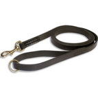 Leather dog leash stitched and handcrafted