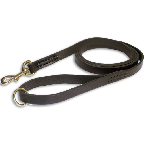 leather dog leash stitched l2st dog leash 500x500