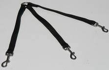 Walk both your dogs with this hand made stitched all weather nylon coupler leash