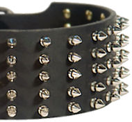 3 inch Spiked Leather Dog Collar