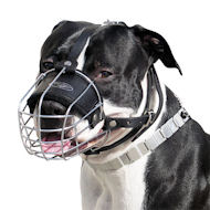 Best Fit Wire Basket Dog Muzzle for Amstaff dog breed-m4light