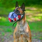 American Pride Handpainted Leather Belgian Malinois Muzzle