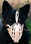 Leather basket dog muzzle - M1_2