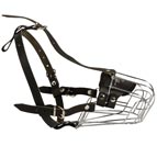 Well-Ventilated Metal Wire Basket Muzzle with Felt Padded Nose