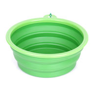 Spring-Hooked Foldable Dog Bowl