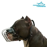 Lightweight Wire Basket Amsatff Muzzle for Comfortable and Safe Walking and Training