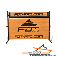 Adjustable Wooden Jump/Barrier with Rotating Top Bar for Schutzhund Training