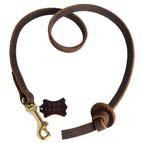 Short Professional leather dog leash - L21