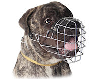 Genuine Wire Large Dog Bullmastiff Muzzle-Big Basket Dog Muzzle