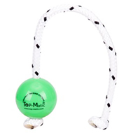"""Favorite Toy"" Green Rubber Dog Ball with a Magnet Inside - 2 1/3 Inches Diameter"