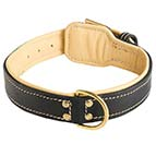 Royal Nappa Hand Made Leather Dog Collar - code C443