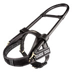 Leather guide dog harness with removable handle - H18