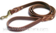 Brown Leather Dog leash