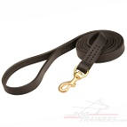 Leather dog leash stitched - L2ST