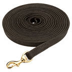 Genuine Leather Dog Leash - Long Tracking Lead