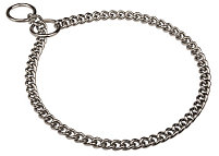 Luxury Looking Choke Chain Collar of Chrome-plated Steel