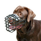 New Labrador High quality Wire Dog MUZZLE with rubber cover