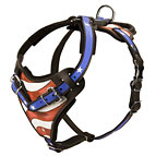 New hand painted by our artists-American pride Agitation / Protection / Attack Leather Dog Harness - H1-AP