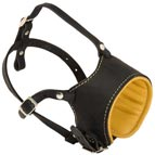 Royal Soft Nappa Adjustable Anti-Barking Leather Dog Muzzle