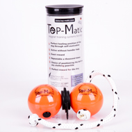 Top-Matic Profi Set - Soft Rubber Orange Balls (6,8 cm) + Black Magnets