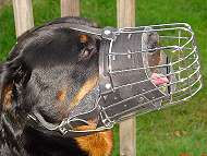 Basket wire dog muzzle with full around snout padding perfect for Rottweiler - M90
