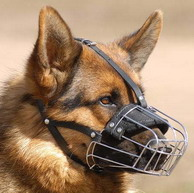 Ventilated Wire Basket Muzzle for German Shepherd Dog