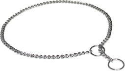 Chrome-plated Slip Chain Dog Show Collar 1/25 inch (1 mm)