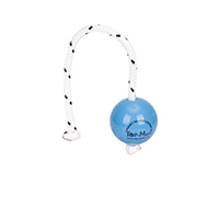 Blue Training Dog Ball on Rope with a Magnet Inside