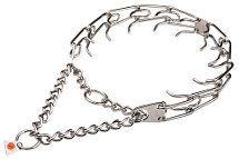 Stainless Steel Dog Prong Collar - 3.99mm (1/6 inch) link diameter (Made in Germany)