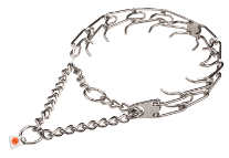 Dog prong collar - STAINLESS STEEL 50045 (55) (3.99mm) (1/6 inch) (Made in Germany)
