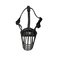 Wire Basket Dog Muzzle with Polymer Coating for Working and Aggressive Dogs
