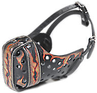 "Hand painted by our artists leather Muzzle ""Dondi"" Plus - FLAMES M77"