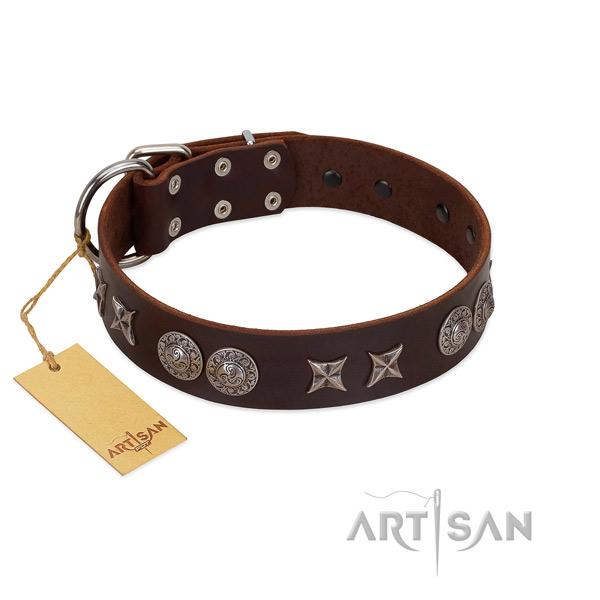 FReliable FDT Artisan leather dog collar