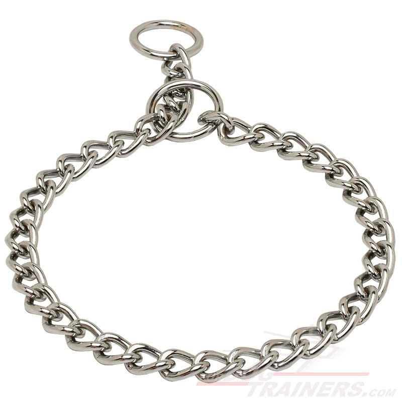 Flat Chain Dog Collar